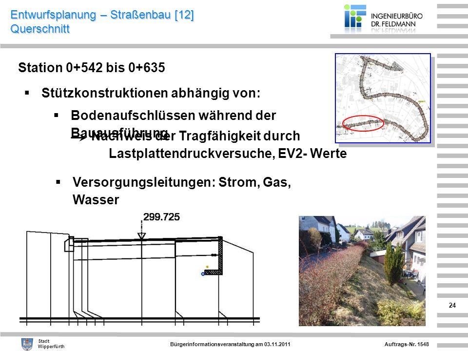 Entwurfsplanung – Straßenbau [12] Querschnitt